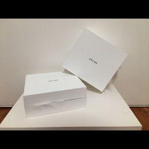 New & Authentic CÉLINE Jewelry Box w/ faux fur